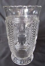 1891 EAPG Pattern Glass  Plume and Block, Feather and Plume Celery Vase