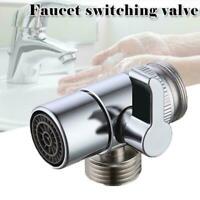 Polished Chrome Brass Sink Valve Diverter Faucet Splitter M24 X M22 For Kit hot
