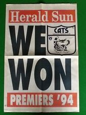 Rare Herald Sun Geelong AFL 1994 We Won Grand Final Poster