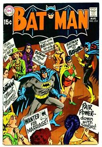 BATMAN #214  Very Fine  Batgirl Feminist Controversial Cover  See Scans