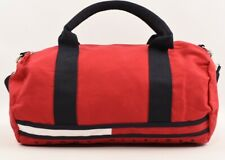 TOMMY HILFIGER Small Mini Duffle Bag, Removable Strap, Red, 35x22x16 cm