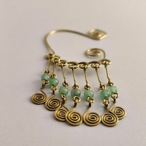 142 Over Ear Ring Bronze Jade 32