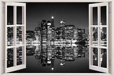 Huge Window Wall Sticker New York City Skyline Vinyl Decor 3d Mural Art Home Rem