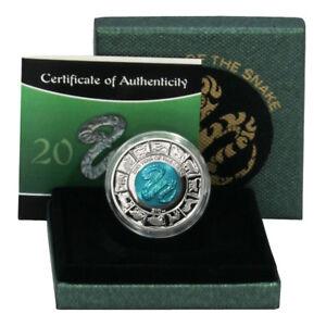 British Virgin Is Year of the Snake $10 2013 Bimetalic Titanium & Silver Coin Bo