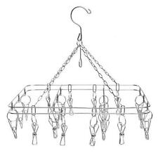 HANGING 12 X 15 INCH DISPLAY RACK WITH 20 METAL CLIPS hang jewelry clothes dryer