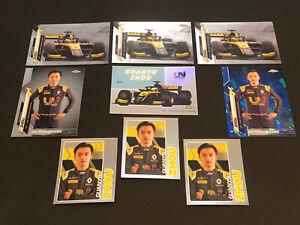 9x Topps Chrome F1 Sapphire Guanyu Zhou Uni Virtuosi Cards Stickers Formula 1