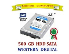 HARD DISK SATA  500 GB  WESTERN DIGITAL WD 500 CB < 3,5 '' > PC FISSO / DESKTOP