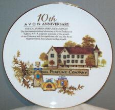 """Avon 10th Anniversary California Perfume Company 8-1/2"""" Collector's Plate"""