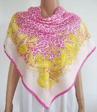 NWOT Authentic VERSACE Pink ANIMAL & SEA SHELL Print Silk Scarf Foulard