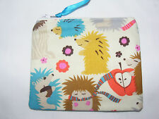 Hedgehog Meadow Fabric Handmade Coin Purse