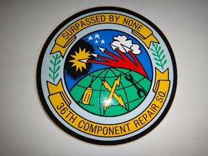 USAF 36th Composant Réparation Escadron Surpassed Par Non Autocollant Jamais Usé