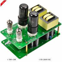 HiFi 6P6P Vacuum Tube Amplifier Single-Ended Stereo Desktop Audio Amp DIY 3W×2