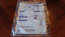 100 Pack - NEW Tamper Evident Plastic Security Money Bags  9 x 12, Clear
