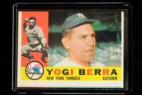 YOGI BERRA Topps #480 New York Yankees 1960 EX+ Condition Great Looking Card!