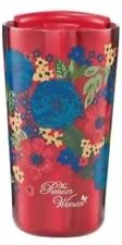 Pioneer Woman Stainless Steel Tumbler Dazzling Dahlias 18 Oz Double Wall Lid Red