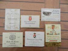 Lot d'étiquettes  pour bouteilles de vin (collection)
