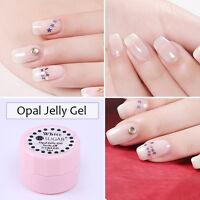 5ml Opal Jelly Gel Soak Off UV Gel Nail Polish Semi-transparent White Varnish