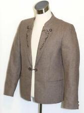 "WOOL - BROWN Men German Trachten Hunting Western Sport Suit JACKET Coat 48 40"" M"