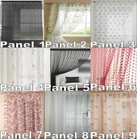 CLEARANCE VOILE CURTAIN PANELS *MEGA SALE* MANY SIZES & DESIGNS *MUST GO*