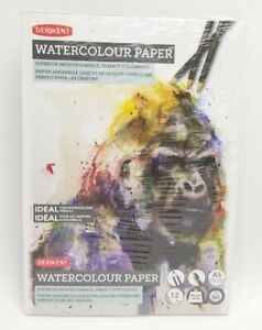 Derwent 5.8 inch x 8.3 inch A5 Superior Smooth Surface Watercolor Paper