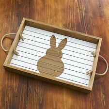 Easter Bunny Serving Tray - Seasonal Holiday Tabletop Decoration