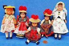 KONVOLUT ALTE PUPPEN BABY DOLL VINTAGE 10-15 CM PUPPENHAUS PUPPENSTUBE TRACHTEN