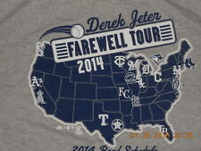 New York Yankees Baseball Shirt Majestic Derek Jeter Farewell Tour 2014 Schedule