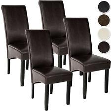 Lot de 4 Chaises de Salle à Manger Chaises de Salon Design Meuble 106 cm Bois