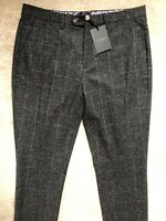 """TED BAKER MEN'S BLACK """"CONNTRO"""" WOOL BL TROUSERS PANTS CHINOS - 36R - NEW & TAGS"""