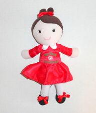 Baby Starters MY FIRST CHRISTMAS Plush Doll Brunette Hair Little Girl Dolly C13
