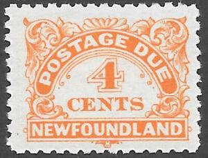 Newfoundland Scott Number J4a F H Perf 10 1/2 Cat $10