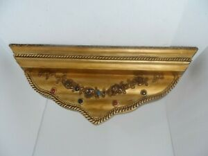 Shelf Decorative Ornate Wall Sconce Gold Resin Composite 23 x 9 x 4.5