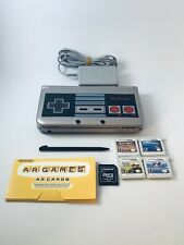 Nintendo 3DS XL Retro NES Edition Silver Handheld System W/ Charger 4 Games