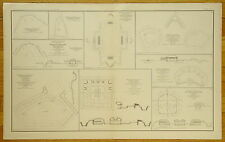 AUTHENTIC CIVIL WAR MAP ~ FORTS / BATTERIES ~ CHATTANOOGA & NASHVILLE TENN.