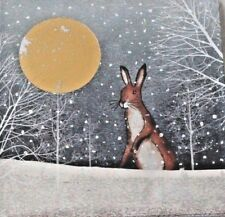 Charity Christmas Pack of 10 Cards 1 Design Moonlit Hare Royal Trinity Hospice