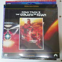 """Laserdisc STAR TREK """"THE WRATH OF KHAN"""" laser/disc NEW/SEALED Free Shipping"""