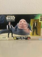STAR WARS JABBA THE HUTT & HAN SOLO SPECIAL EDITION TRILOGY POTF KENNER 1997 NEW