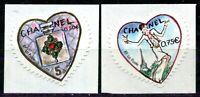 PAIRE ROULETTES CHANEL 38b - 39b  - SIGNEES CALVES - AVEC N° 189 a CHAQUE TIMBRE