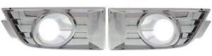 2007-2010 FORD EDGE FRONT BUMPER FOG LIGHT LAMP BEZELS SET CHROME RH & LH NEW