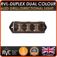 Dual Colour LED Strobe Warning Light Module Grill - Like Premier Hazard flashing