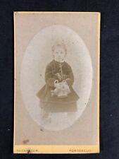 Victorian Carte De Visite CDV: Child Flower Basket : Kyles & Moir: Portobello