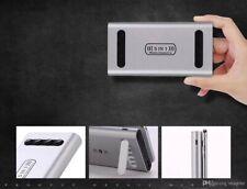 Schwarze Wireless Power Bank Saugnäpfe 10000mAh Kabelloses Laden iPhone Samsung