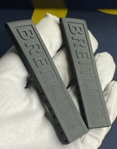 BREITLING Watch Strap OEM 151S 20mm rare black rubber band Breitling 20 mm NEW