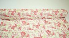 """Red Pink Flower Floral Print Quilting Fabric Craft Apparel Upholstery 45"""" #9963R"""