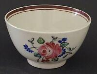 Chinese export vintage pre Victorian oriental antique pink flower tea bowl