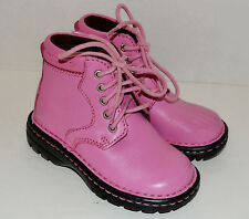HH Double H Girls Ankle Boots Pink Leather Size 9D