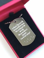 """""""Footprints in the sand"""" stainless steel Pendant + Gift Box"""