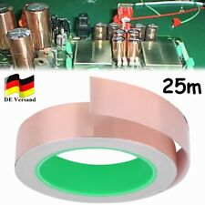 20M Kupferband Selbstklebend Klebeband EMI Abschirmband Kupferfolie 25mmx20Meter