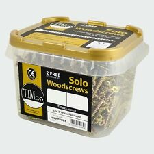3.5x30mm YELLOW PASSIVATED SOLO WOOD SCREWS - TUB OF 1800 + 2 FREE DRIVER BITS