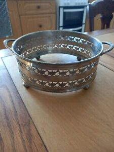 Vintage Epns Silver Regis Plated Winged footed Reticulated Dish stand